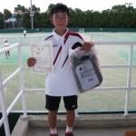 中学生以下男子シングルス準優勝