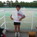 中学生以下女子シングルス準優勝