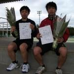 1男子準優勝(川田・冨田)